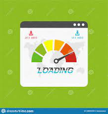 Website Speed Loading Time. Web Browser With Speedometer Test Showing Fast  Good Page Loading Speed Time. Vector Illustration Stock Vector -  Illustration of development, control: 148909359