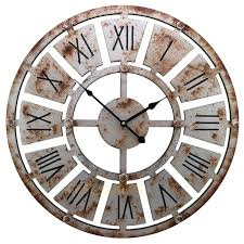 large rustic wall clock large thin rustic wall clock diy large rustic wall clock