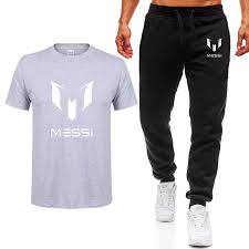 Shirts With Pants Us 7 55 Summer Brand 100 Cotton Barcelona Messi Tracksuit Men T Shirt Pants Sets Man Casual Short Sleeve T Shirts Plus Size Tops Tee In T Shirts