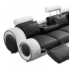 divani casa 4087 modern bonded leather sectional sofa