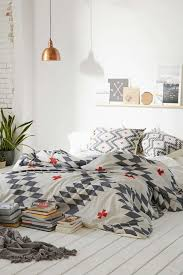 White Grey And Copper Master Bedroom Get Inspired
