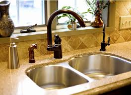 bronze kitchen sink faucets unique bronze faucet with stainless sink