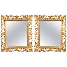 pair of gilt carved wood frames for