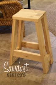 sawdust furniture. DIY Barstool Using Only 2x4s - Sawdust Sisters Furniture R