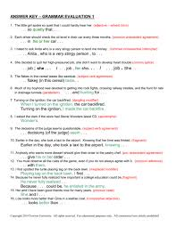 Agreement Of Subject And Verb Worksheets Answers Gallery Sample ...