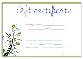 free customizable gift certificate template aesthetecurator customized gift certificate templates