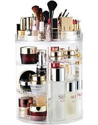 cosmetics storage dressing table desktop multi function european metal square cosmetic box 360 degree rotation