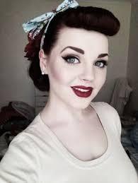 fifties hair and makeup more long hair pin up hairstyles 1940 s 50 s pinup hair and makeup makeup style