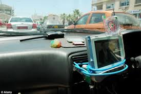 tv in car. in car entertainment: many new vehicles include tv systems on their dashboards that are designed tv