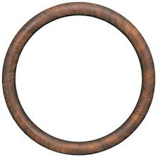 antique wood picture frames. Pasadena Round Frame # 250 - Vintage Walnut Antique Wood Picture Frames