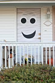 ... Good Looking Idea For Halloween Door Decoration Idea : Exquisite Front  Porch Decoration Using Smiley Halloween ...