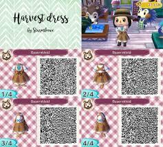 Qr Code Designs New Leaf Harvest Dress Design For Animal Crossing Bauernkleid Qr Code