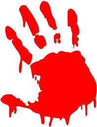 BLOODY ZOMBIE HAND PRINT(Right Hand) - 5.5 ... - Amazon.com