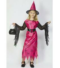Halloween Lovely Pink Witch Girl Props Costume/children Costume
