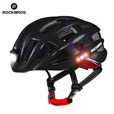Rockbros Helmet With Lights Us 44 0 Rockbros Bicycle Light Helmet Waterproof Bike Helmet Usb Charge Cycling Helmet Intergrally Molded Mtb Road Bicycle Accessories In Bicycle
