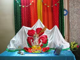 ganapati decorations himalaya from plaster of paris pop in