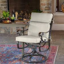back outdoor dining chair cushion