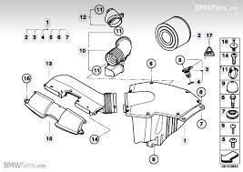 e90 intake silencer engine air intake intake silencer assembly 1 in the diagram 13 71 7 555 288