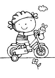 Kleurplaat Op De Fiets Dopravne Prostriedky Drawing For Kids