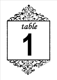 28 Elegant Printable Table Numbers Kittybabylove Com