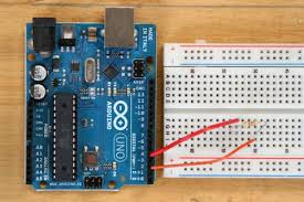 """building a capacitive proximity sensor using electric paint bare pin 4 is referred to as the """"sensor pin"""" and pin 2 is referred to as the """"receive pin"""" an easy way to create this circuit is via a er less breadboard"""