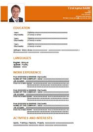 Free Professional Resume Template In Word Format