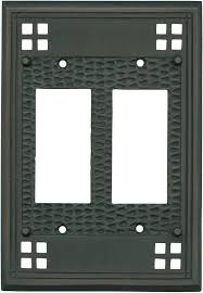 mission classic oil rubbed bronze light switch plates covers wall brushed