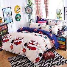 2016 new 3 4pcs lovely london cartoon kids bedding set bed linen 3d bedding sheet