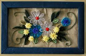 Paper Quilling Flower Frames Paper Quilling Flower Art Gardening Flower And Vegetables