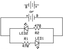 leds 102 use on board trains if led1 is the locomotive s headlight it will light only when the train goes forward if led2 is a rear facing spotlight as we see on some tenders