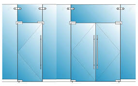 pivot frameless swing door