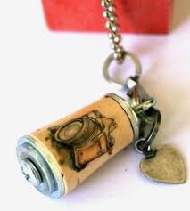 camera recycled cork necklace olive 1439488697 cork necklace friends family