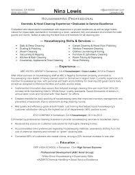 Housekeeper Resume Sample Housekeeper Resume Sample Executive Delectable Housekeeper Resume