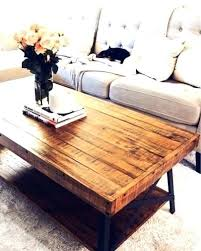coffee table with lights reclaimed wood living room decor light grey sofa oak sectional round
