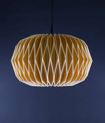 Gorgeous yellow origami light shade: 34.99 + Free UK Delivery
