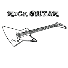 Browse your favorite printable guitar coloring pages category to color and print and make your own guitar coloring book. Top 25 Free Printable Guitar Coloring Pages Online