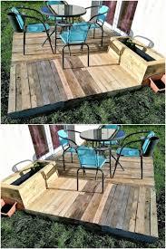 outdoor furniture pallets. Little Garden Deck Out Of Pallets Outdoor Furniture O