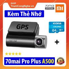 Camera hành trình ô tô 70Mai A500s quay Trước và Sau Siêu Nét - 70mai Dash  Cam Pro Plus+ A500s Rear Cam Set 1944P