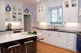 White Kitchen With A Blue Kitchen Stove In Wilmington Delaware