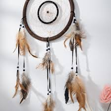 Asian Dream Catcher 100 Traditional Brown Dream Catcher with Feathers Wall or Car 52