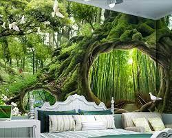 forest 3d wallpaper custom mural non ...