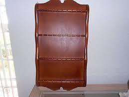 souvenir spoon shelf rack wooden wall