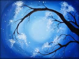 original acrylic tree painting on canvas panel