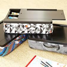 lap desk storage canvas lap desk with storage and pillow
