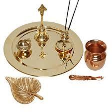 Small Picture Buy MA DESIGN HUT Pooja Thali Diwali Decoration Diwali Gift Brass