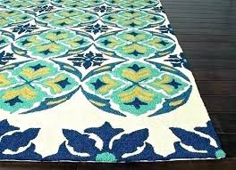 blue and green outdoor rug dusk trellis lime kailani contemporary