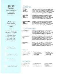 Premium Free Professional Resume Templates 20 Myenvoc