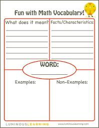 Frayer Model Examples Vocabulary Use These 5 Practical Strategies To Grow Students Math Vocabulary