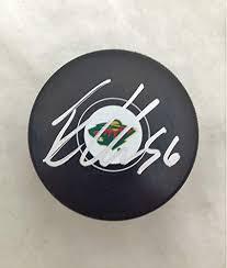 Collectibles Autographed Puck Haula Coa Wild Logo Erik Minnesota Sports Amazon's Store At