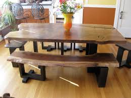 rustic kitchen table with bench. Full Size Of Uncategorized:kitchen Tables With Benches Inside Fascinating Chair And Table Design Rustic Kitchen Bench :